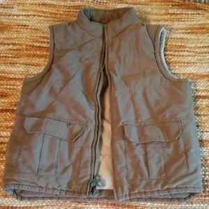 Boys 7 8 gymboree puffer vest olive green